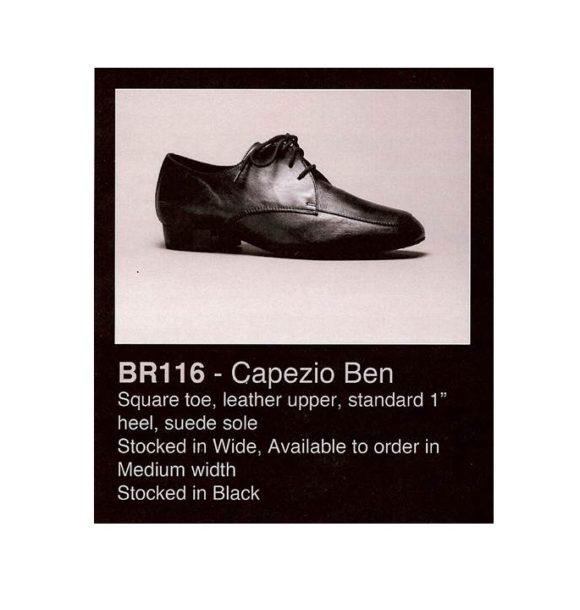 "Capezio Ben Mens Leather Ballroom Shoe 1"" Heel Square Toe"